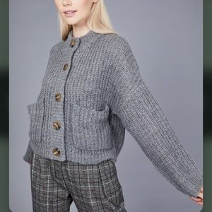 NWT Native Youth Cable Knit Cardigan Sweater S